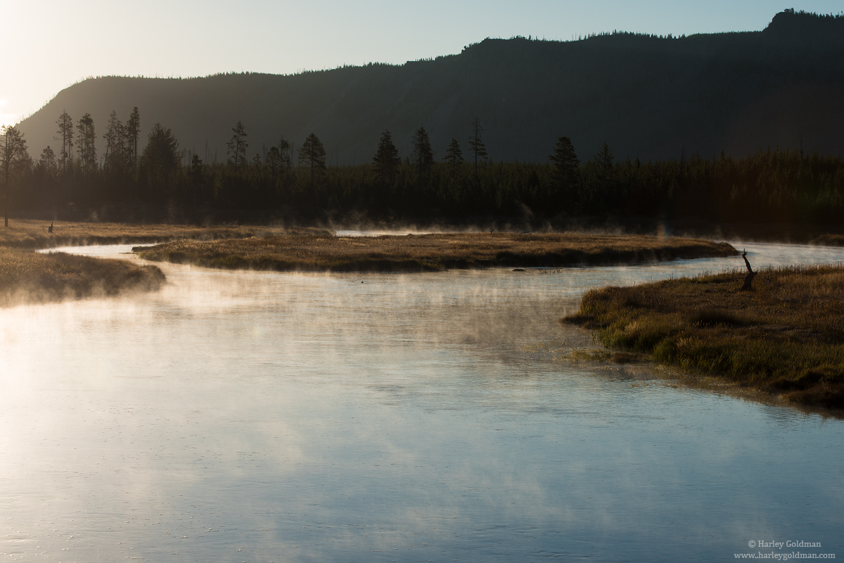 Madison river, yellowstone, national park, Wyoming, photo