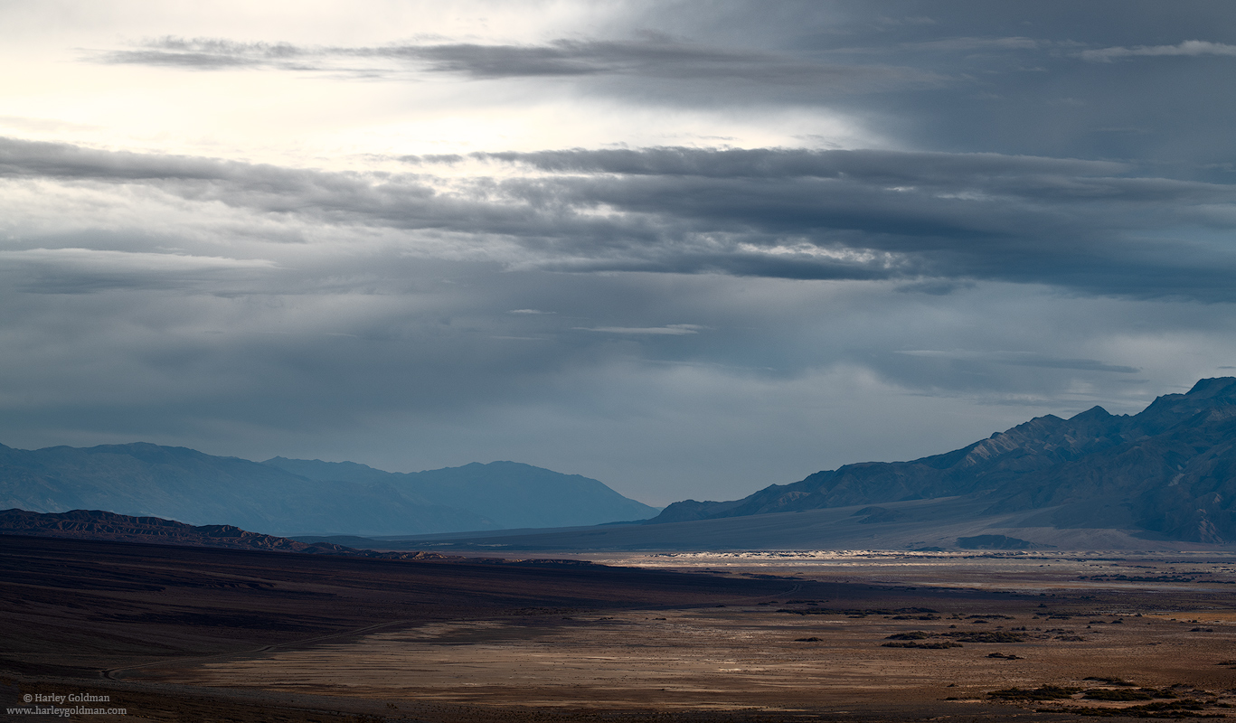 death valley, national, park, clouds, desert, storm