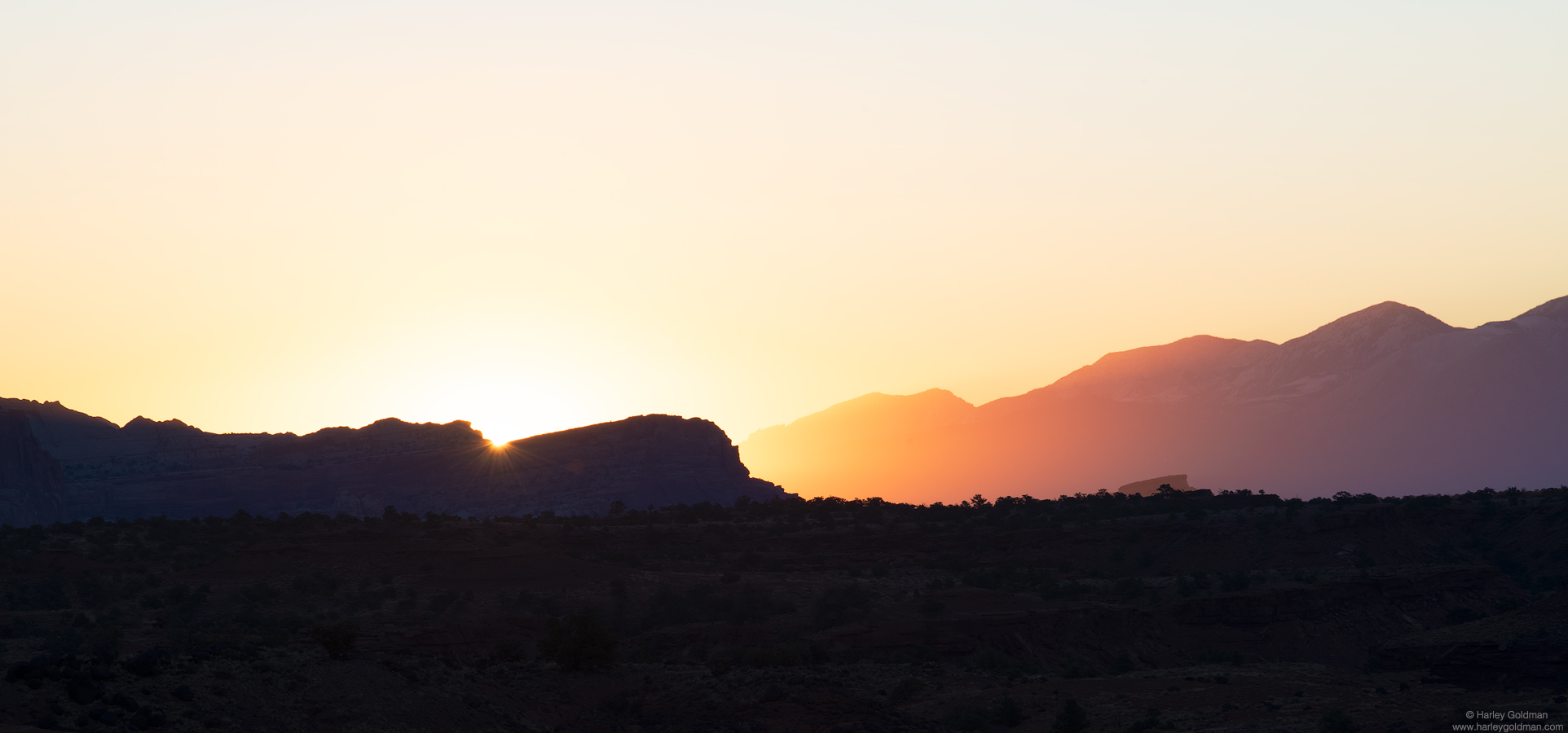 Utah, sunrise, hills, rock, bluff, butte, morning