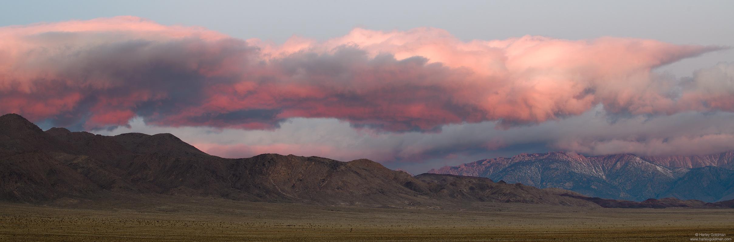 sunrise, pink, death valley, sierra, nevada, mountain, mountains, desert, cloud, clouds