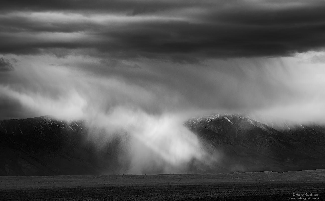 death valley, desert, cloud, clouds, fog, sierra, nevada, mountain, mountains, storm