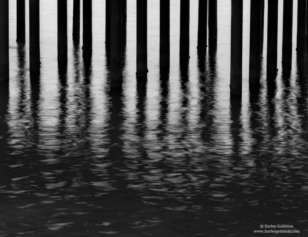 piling, ocean, ripple, photo