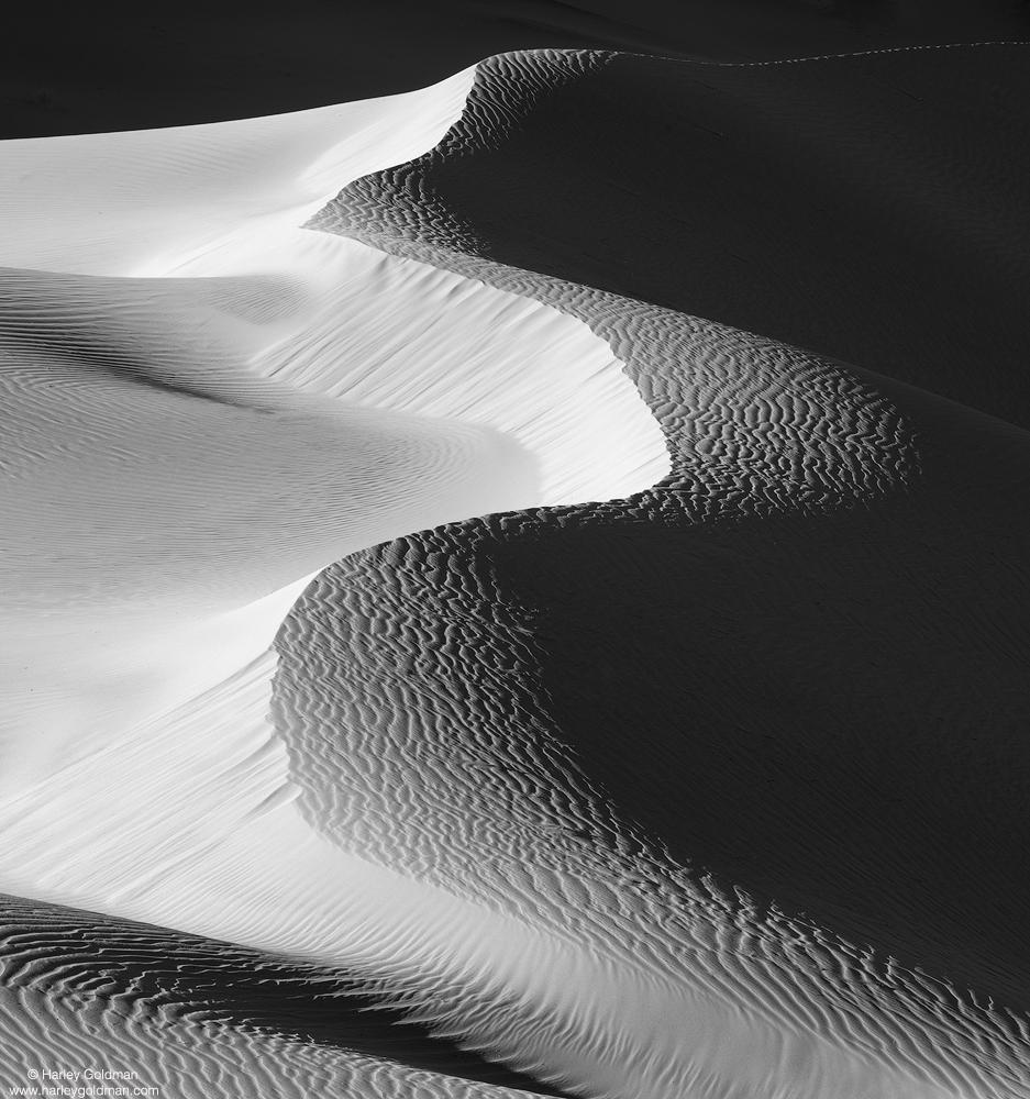 death valley, national, park, sand, dune, desert, winter, ripple