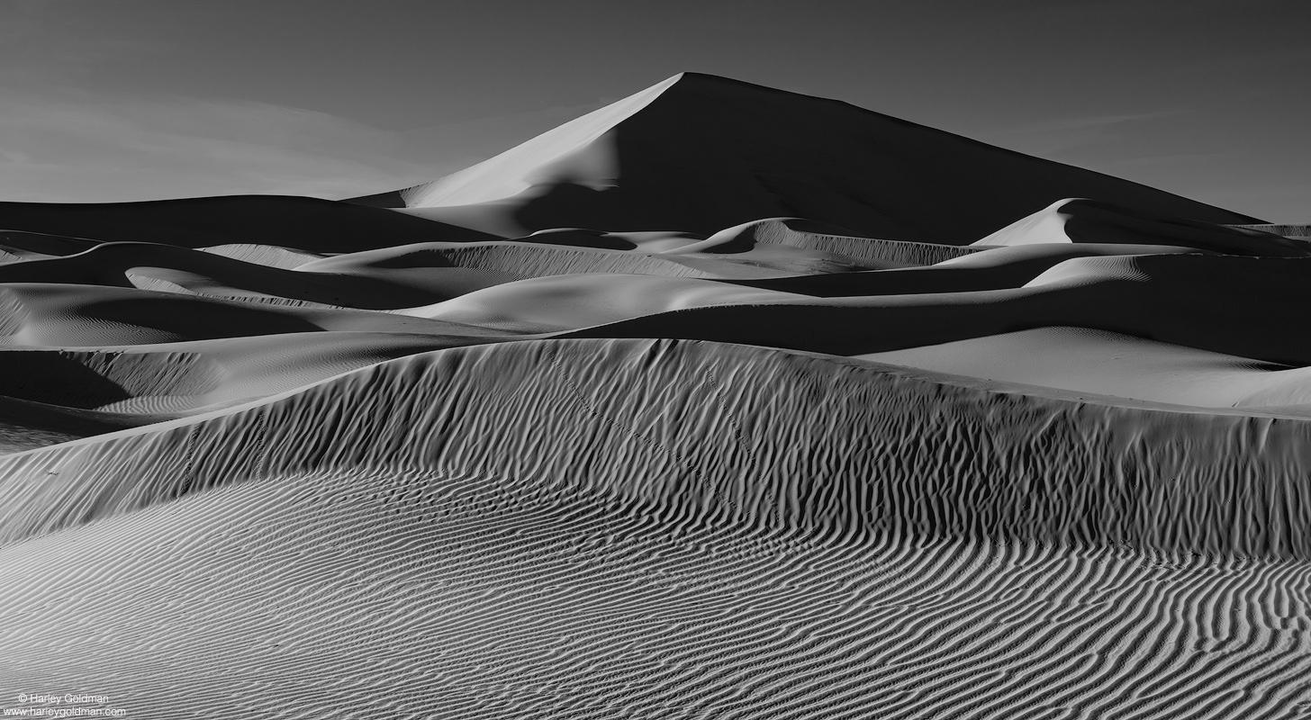death valley, national, park, wavy, dune, desert, ripple, winter